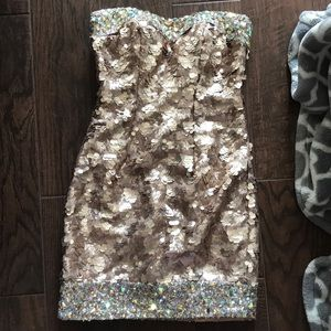 Mini Gold Sequence Dress